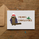 'Merry Christmas' Beaver Christmas Cards