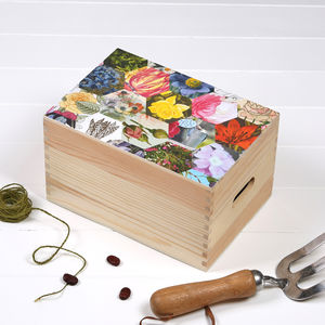 Personalised Gardeners' Seed Storage Box - gifts for grandparents
