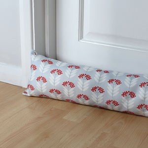 Elderberry Pattern Print Draught Excluder - door stops