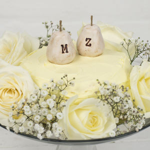 Personalised Perfect Pear Wedding Cake Toppers - cake toppers & decorations
