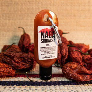 Mini Naga Sriracha Hot Sauce Chilli Keychain