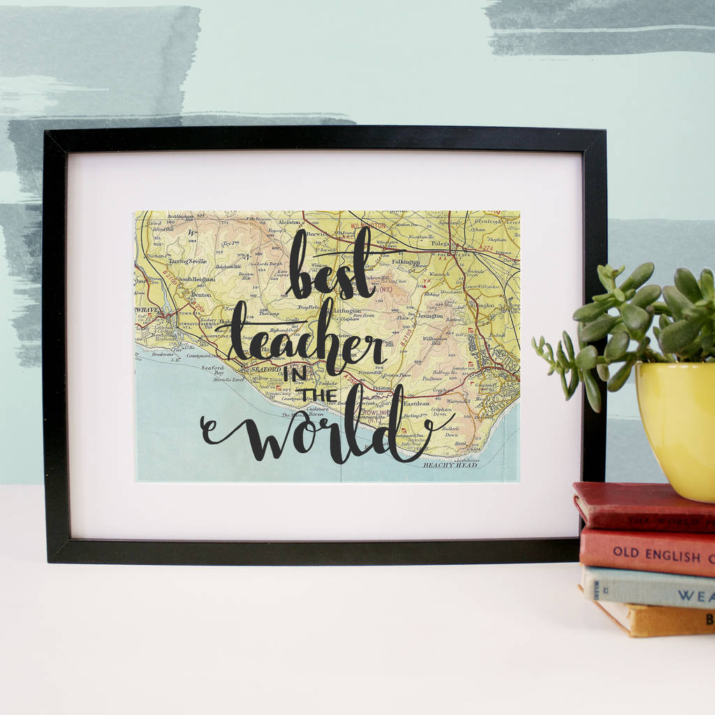 Personalised 'Best Teacher In The World' Print