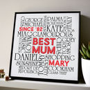 Personalised 'Best Mum, Best Dad' Typographic Art Work