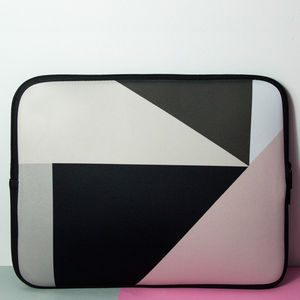Laptop Sleeve With Geometric Print, More Colours - laptop bags & cases