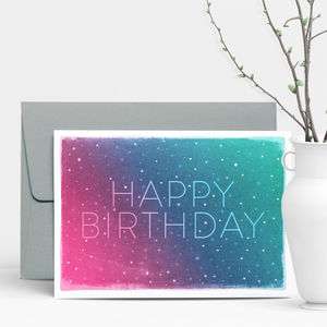 Cosmos Birthday Greeting Card