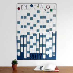 2017 Wall Calendar Year Planner Hand Drawn