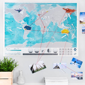 Scratch Off® 'Push Pin' World Oceans Map Bundle