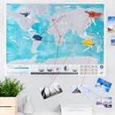 Scratch Off 'Push Pin' World Oceans Map Bundle