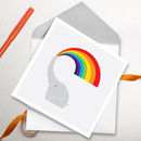 Rainbow Elephant Greetings Card