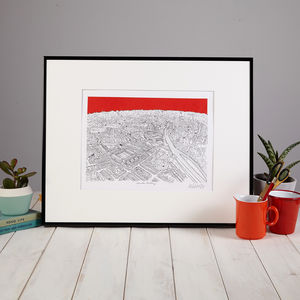 Arsenal Highbury North London Print - maps & locations