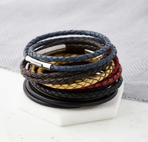 Leather Wrap Bracelet - bracelets