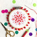 Snowflake Cross Stitch Bauble Kit