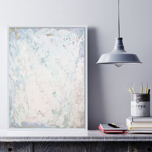 'Blush Fizz' Framed Giclée Abstract Canvas Print Art - posters & prints