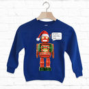 Activate Christmas Mode Kids Christmas Robot Sweatshirt