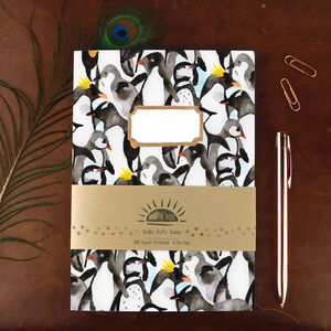 Waddle Of Penguins Print Notebook