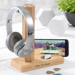 Personalised Headphone Stand - gifts for him