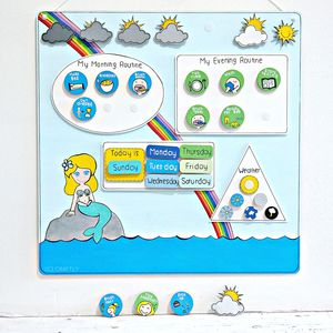 Personalised Mermaid Routine Reward Chart