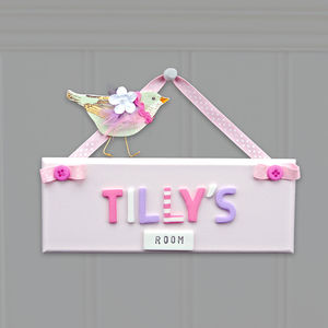 Personalised Children's Door Sign - personalised