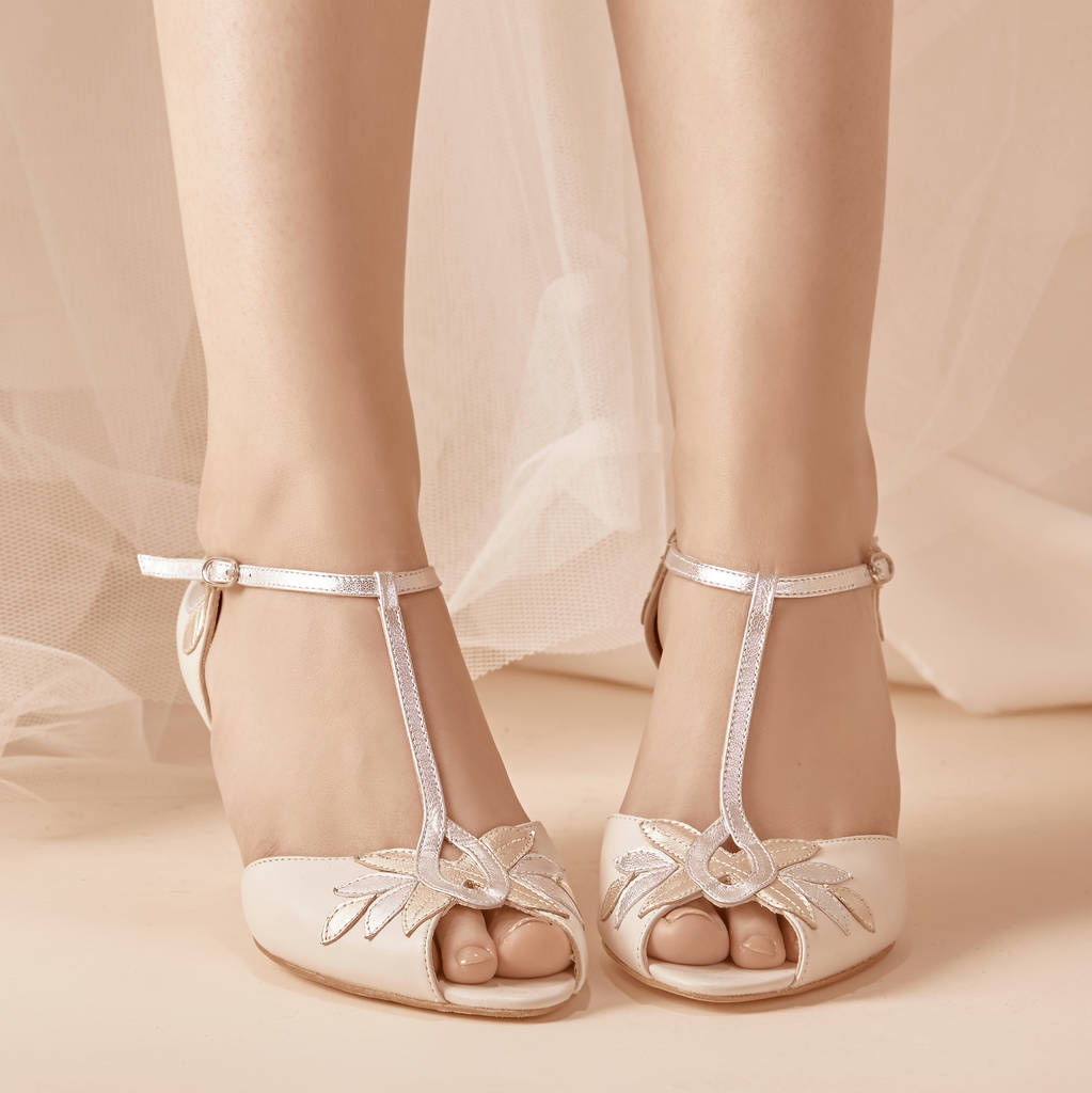 Isla Ivory Leather Wedding Shoes By Rachel Simpson