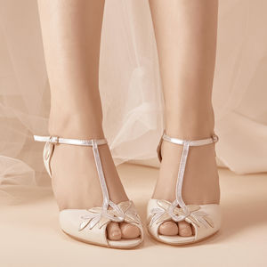 Isla Ivory Leather Wedding Shoes - new in fashion