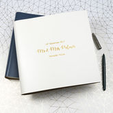 Personalised Large Leather Wedding Guest Book - weddings