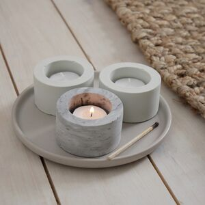 Concrete Tealight Holders