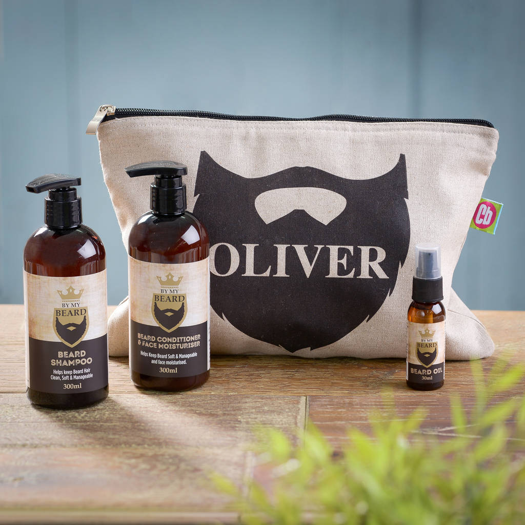 personalised beard grooming kit by thelittleboysroom. Black Bedroom Furniture Sets. Home Design Ideas