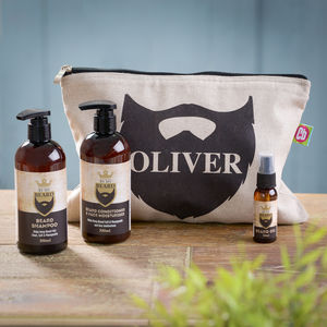 Personalised Beard Grooming Kit - make-up & wash bags
