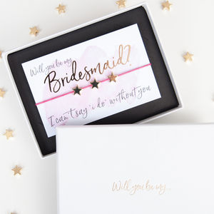 Will You Be My Bridesmaid Gift Boxed Wish Bracelet - wedding fashion