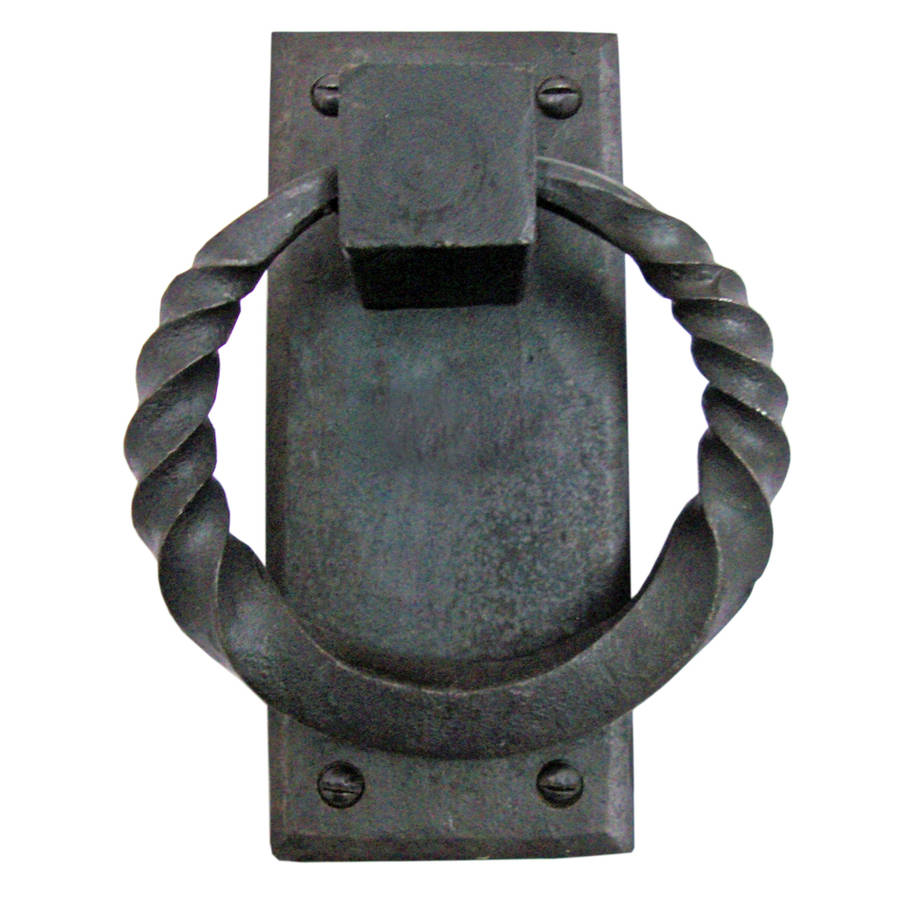Hand Forged Door Knocker Twisted Plate Handmade Iron  sc 1 st  Notonthehighstreet.com & hand forged door knocker twisted plate handmade iron by g decor ...