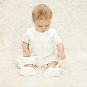 Boys Oliver Christening Romper Suit - christening wear