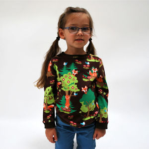 Kids' Jersey Sweater Top: Foxes