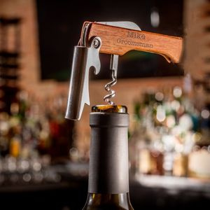Personalised Wine Bottle Opener, Corkscrew
