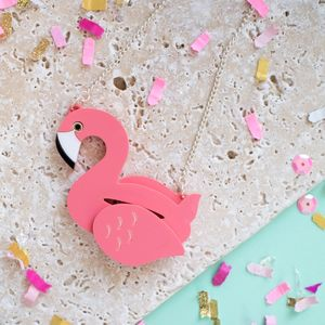 Flamingo Pool Float Necklace - necklaces & pendants
