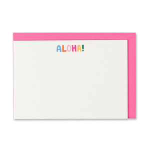 'Aloha!' Happy Notes Notecards - notelets & writing paper