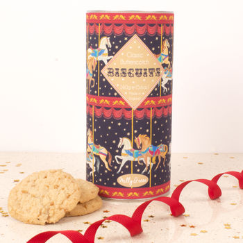 Carousel Cylinder Of Butterscotch Biscuits