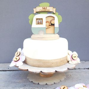 Personalised Caravan Wedding Cake Topper - table decorations