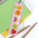 Children's Personalised Summer Fruit Bookmark