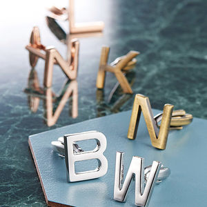 Personalised Initial Letter Cufflinks - gifts for him