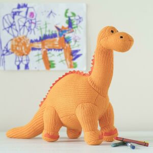 Knitted Dinosaur Rattle Diplodocus