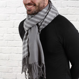 Men's Personalised Super Soft Stripe Scarf - hats, scarves & gloves