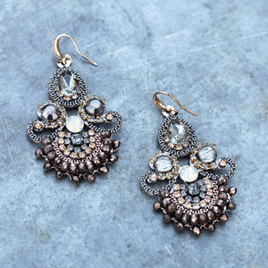 Vintage Style Handmade Chandelier Earrings - statement jewellery