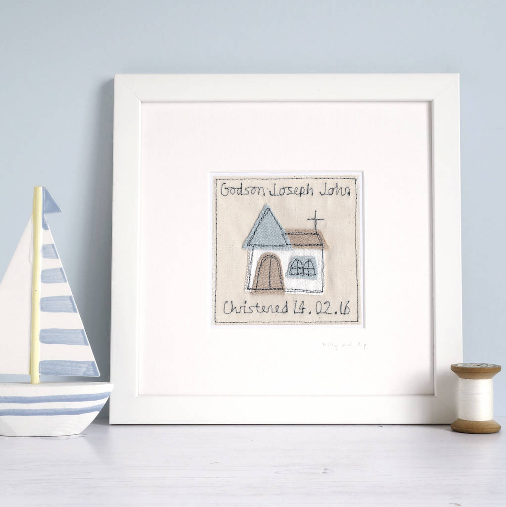 personalised christening picture by milly and pip ...