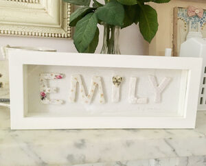 Personalised Framed Porcelain Name
