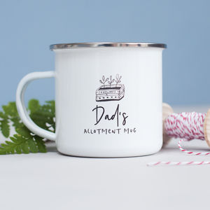 Allotment Personalised Enamel Mug - kitchen