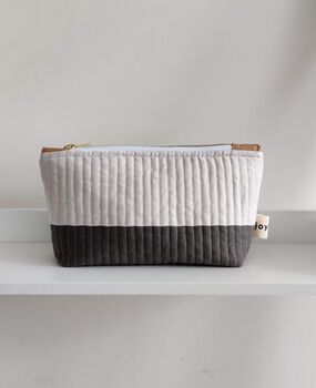 Two Tone Quilted Pouch