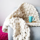 Blanket Made with 2kg of Natural White Wool