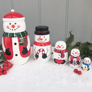 Christmas Snowman Russian Doll Set - christmas decorations