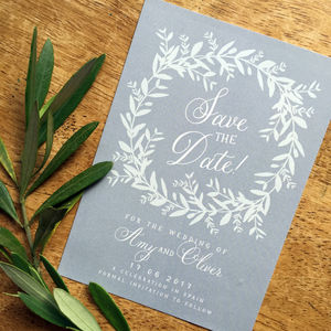 French Olive Wedding Stationery Range