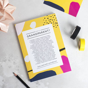 Grandparents Poem Notebook - gifts for grandparents
